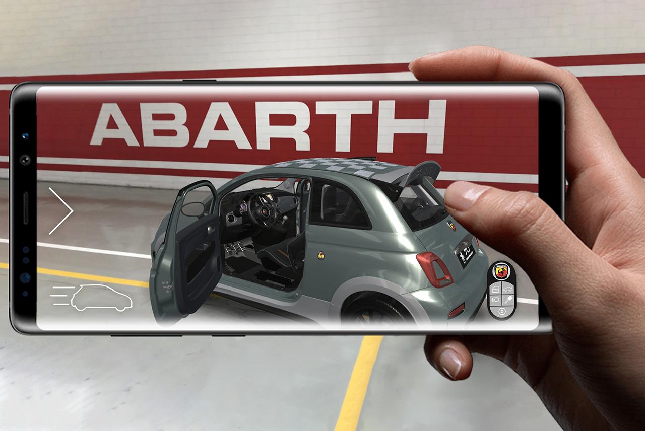 Den neuen Abarth 695 70° Anniversario mit Augmented Reality erleben