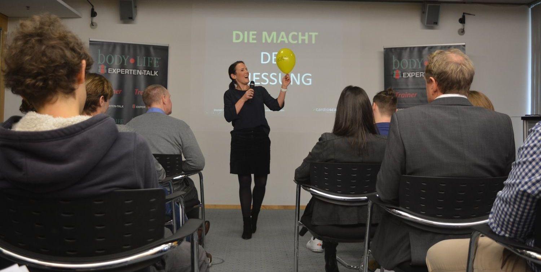 """Mareen Becher von cardioscan beim bodyLIFE Expertenforum """"Testing und Diagnostik"""""""