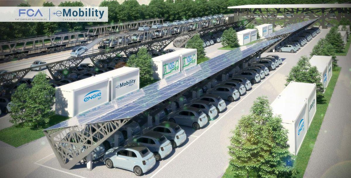 Fiat Chrysler Automobiles startet im Turiner Werk Mirafiori gemeinsames Vehicle-to-Grid-Projekt mit ENGIE EPS