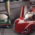 Rückblick auf eine Revolution in Sachen Form und Farben – die Alfa Romeo Modelle Tipo 33 Stradale und Montreal, das Konzeptfahrzeug Carabo