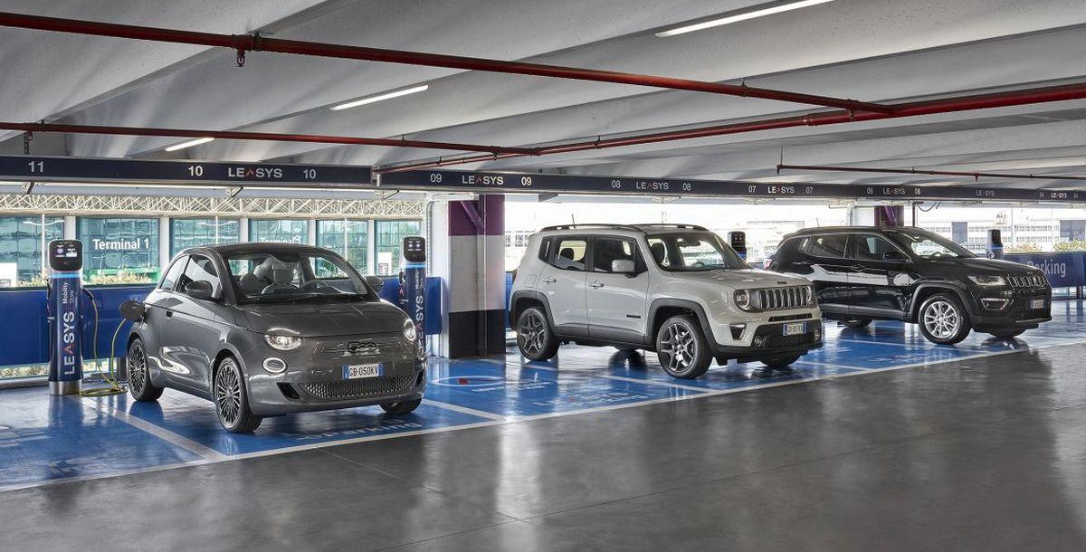 Leasys nimmt Ladestationen für Elektrofahrzeuge am Flughafen von Rom in Betrieb