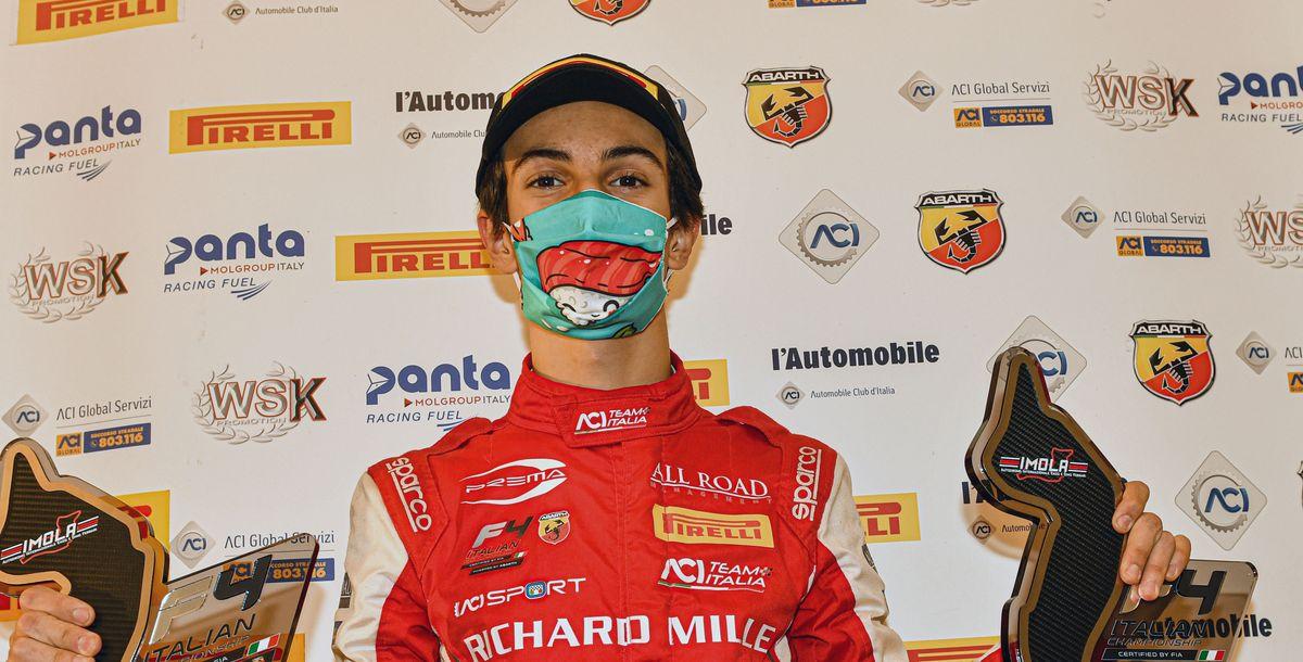 Gabriele Minì (15) ist neuer Champion der italienischen Formel 4 powered by Abarth