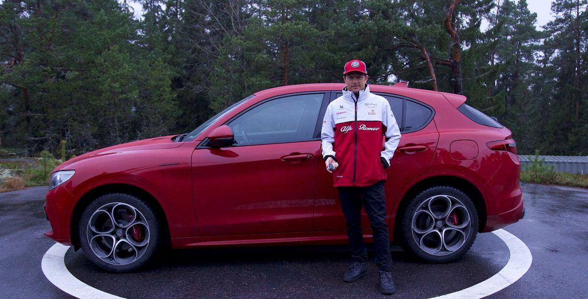 Formel-1-Pilot Kimi Räikkönen fährt privat Alfa Romeo Stelvio